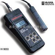 便携式防水电导率测定仪 型号:HANNA HI 9033