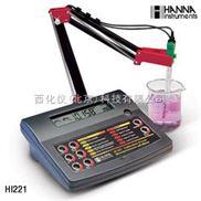 台式实验室酸度计/ORP/温度测定仪=- 型号:HANNA HI 221C