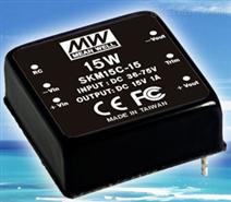 台湾明纬 SKM15系列 15W小型化稳压式直流/直流电源转换器