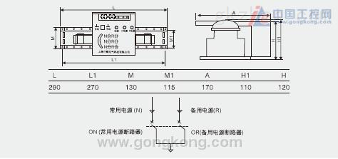 中颐zyq2e系列双电源自动转换开关