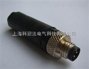 M8针式直头带电缆连接器四针四孔厂家