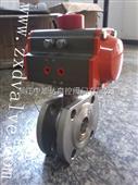 ZXDA-AT50/63气动超薄球阀CF8/CF3M/PN16