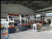 国外客户验金属材料拉伸试验机