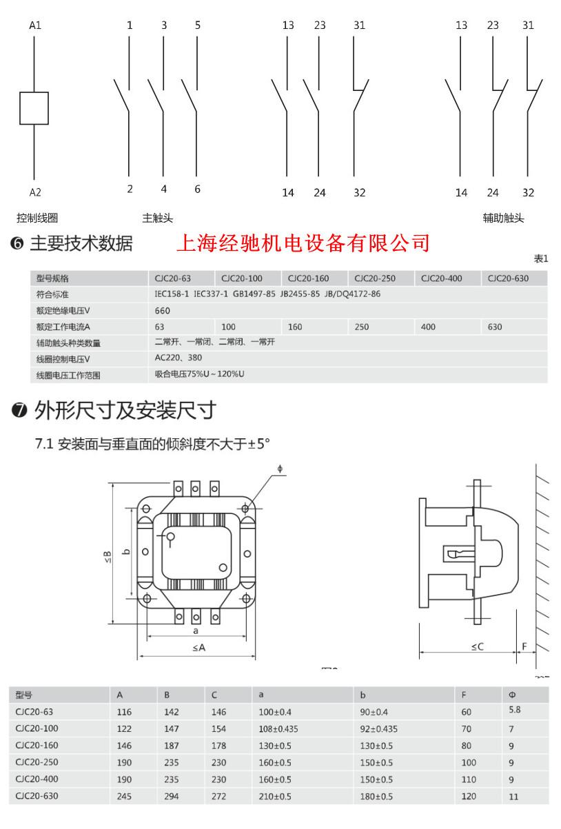 cjc20-160,cjc20-250交流接触器