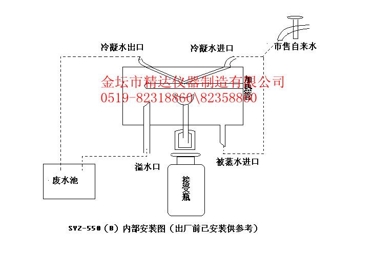 syz-a120b550石英亚沸蒸馏水器说明书和按装图