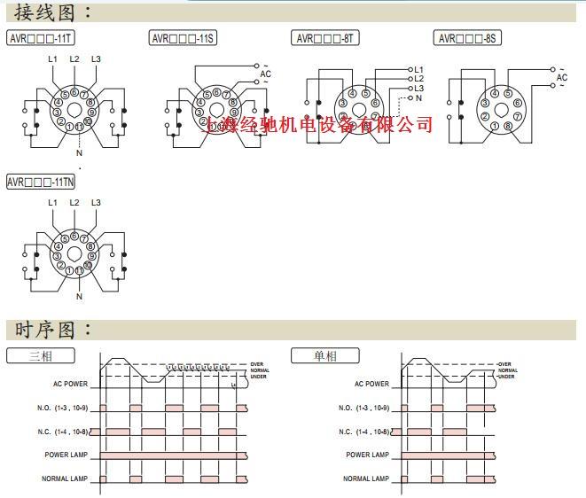 继电器 avr电压保护继电器  可用于检测三相电源是否发生欠相,逆相或