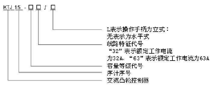 ktj15-63/2l凸轮控制器