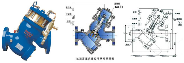 yq98004过滤活塞式缓闭止回阀结构图