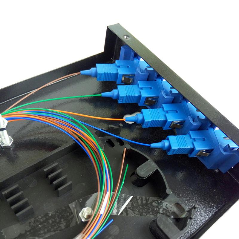 4芯光纤接线盒 sc方口4芯壁挂式终端盒满配fc